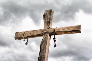 Easter devotional cross crucifixion