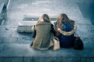 Friends talking & listening