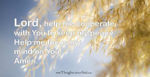 Prayer to Keep my Peace - devotional