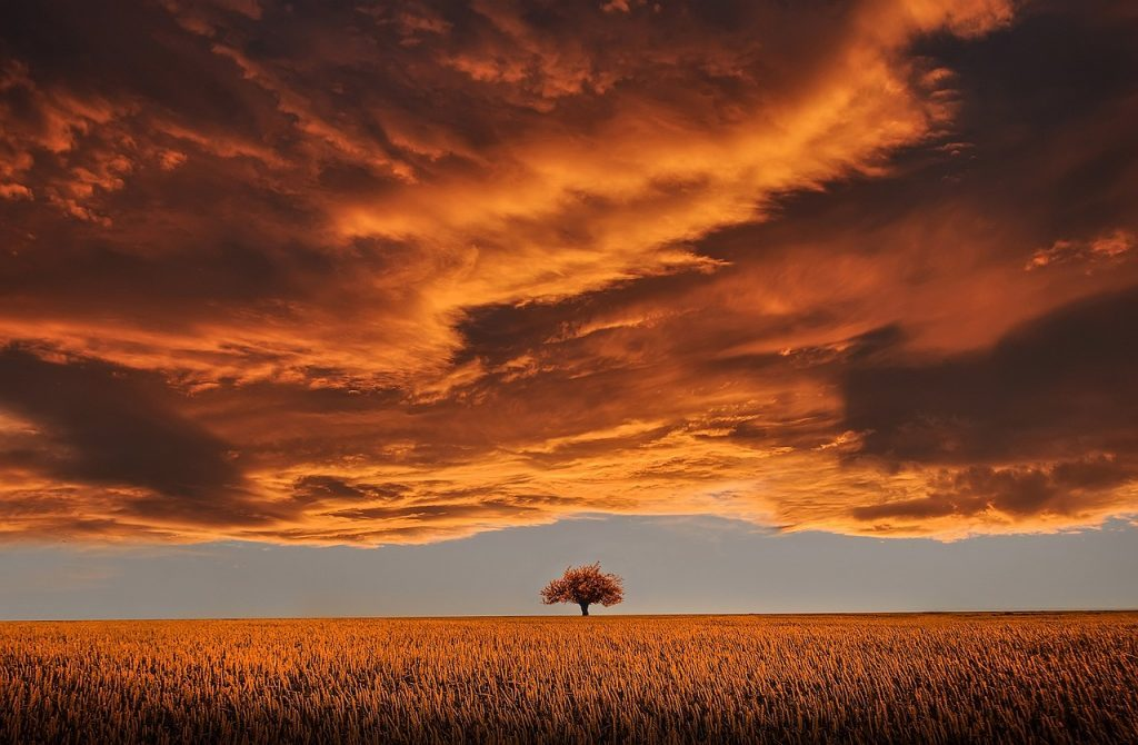 Clouds Sunset Scene
